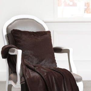 Luxe Faux Fur Throw GIRAFFE AT HOME NWT
